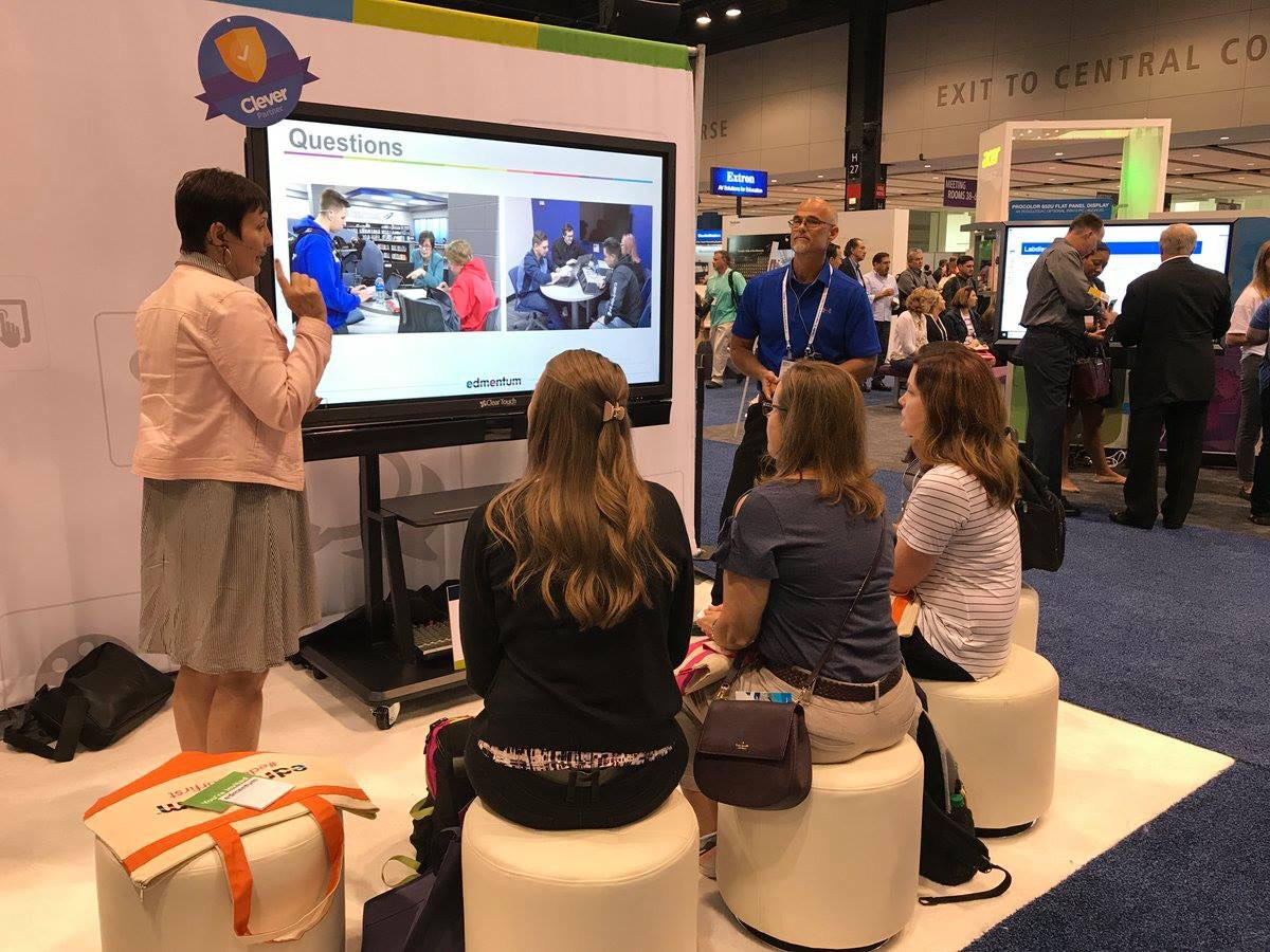 Jeff and Gillian presenting at ISTE Conference