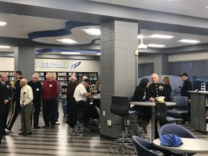 Veterans enjoying breakfast
