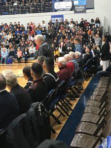 Announcing veterans in attendance