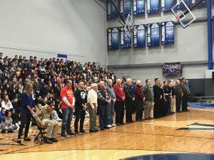Preparing for thanking veterans