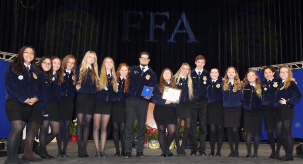 The 16 Central Burlington FFA Members that attended State Convention this year after being named the 4th place FFA Chapter in the State
