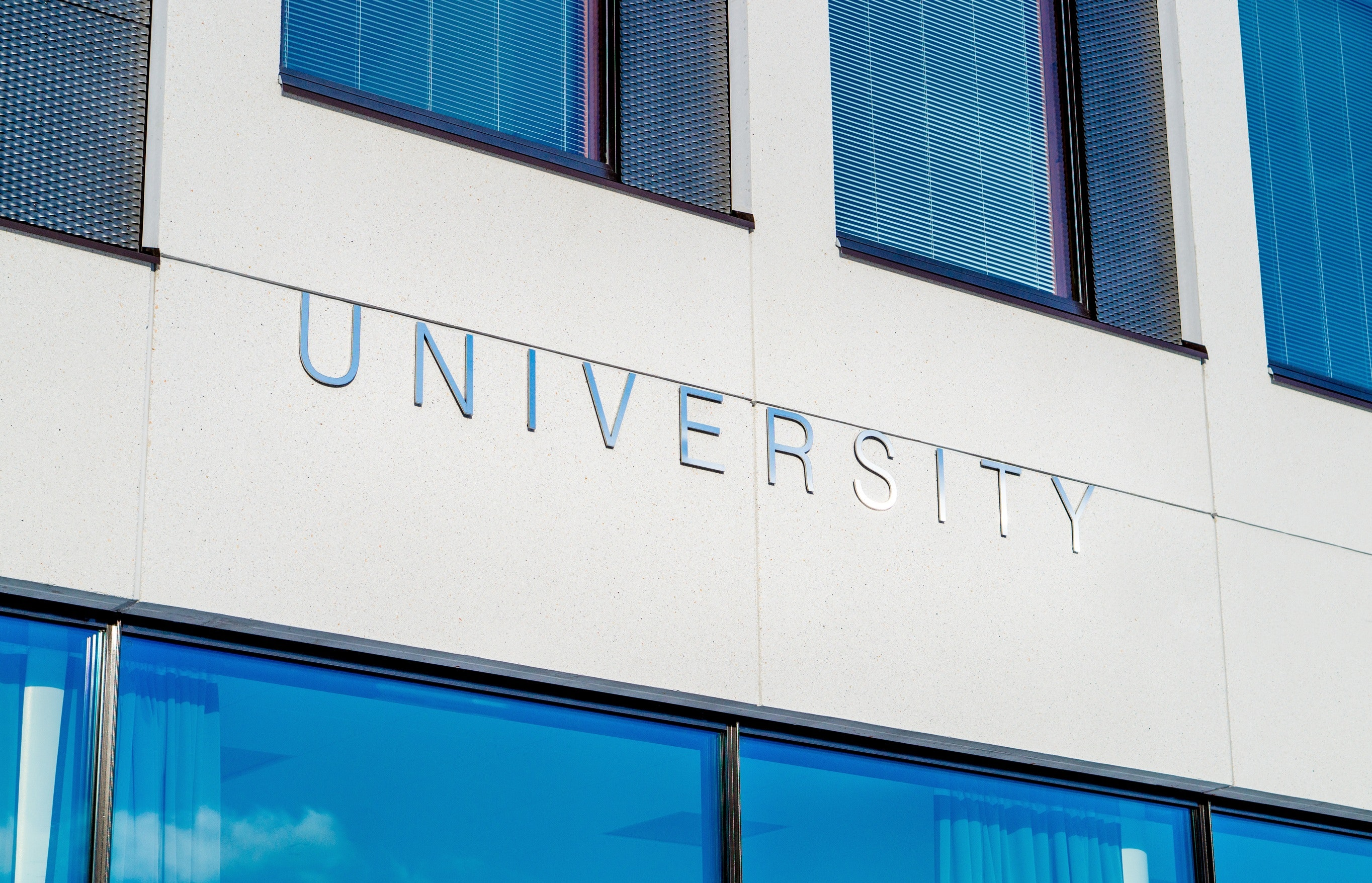 """The word """"University"""" on a building"""